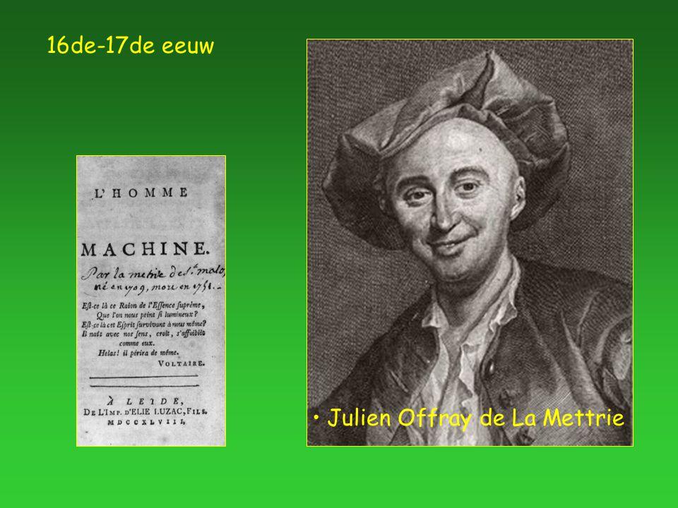 16de-17de eeuw Julien Offray de La Mettrie