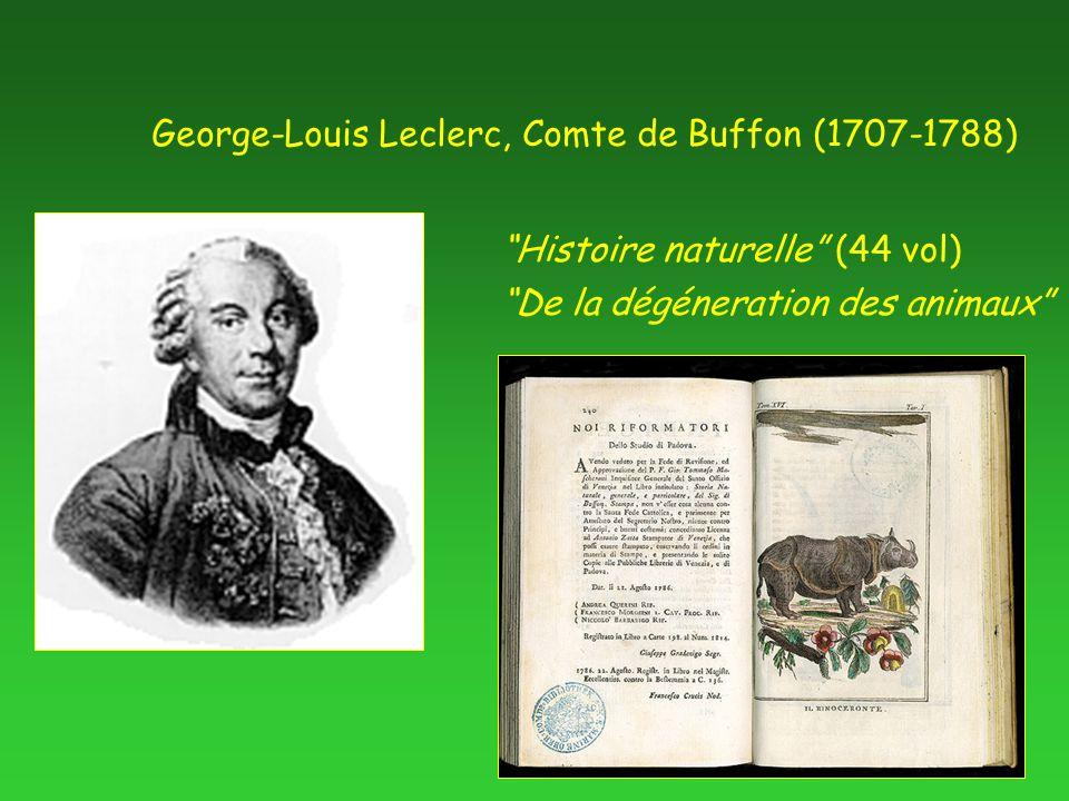 George-Louis Leclerc, Comte de Buffon (1707-1788) De la dégéneration des animaux Histoire naturelle (44 vol)