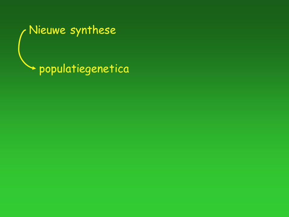populatiegenetica Nieuwe synthese