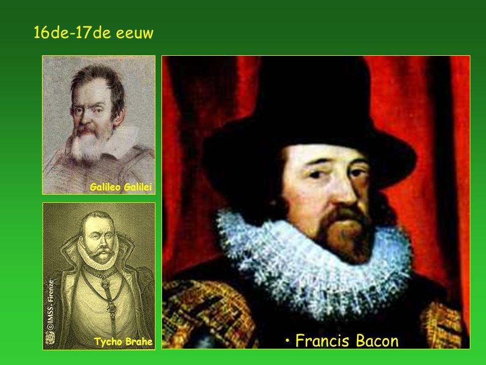 16de-17de eeuw Francis Bacon Galileo Galilei Tycho Brahe