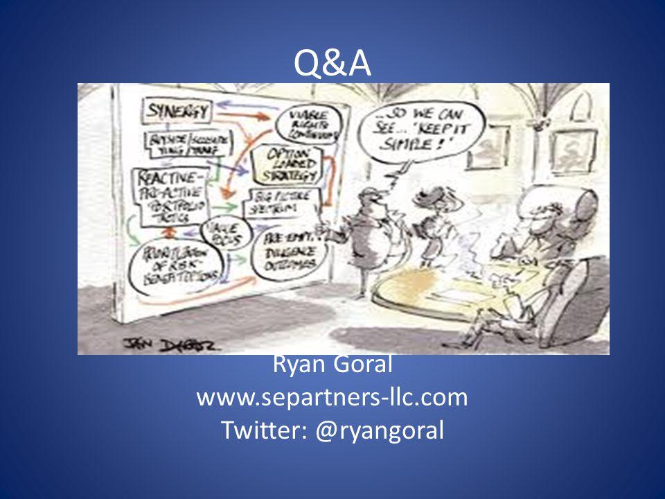 Q&A Ryan Goral www.separtners-llc.com Twitter: @ryangoral