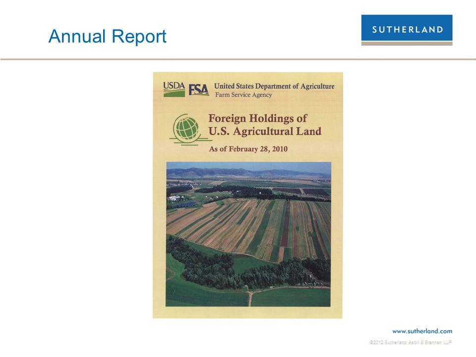 ©2012 Sutherland Asbill & Brennan LLP Annual Report
