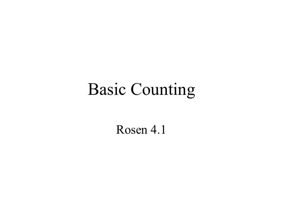 Basic Counting Rosen 4.1