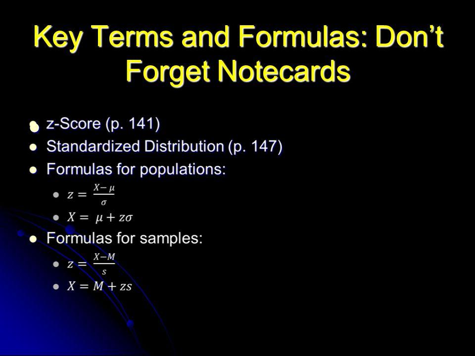 z-Scores and Standardized Scores
