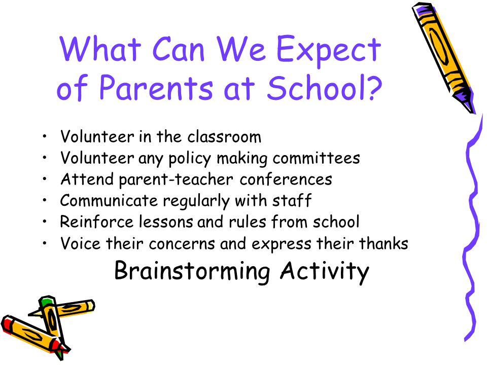 How Else Do We Encourage Parents.