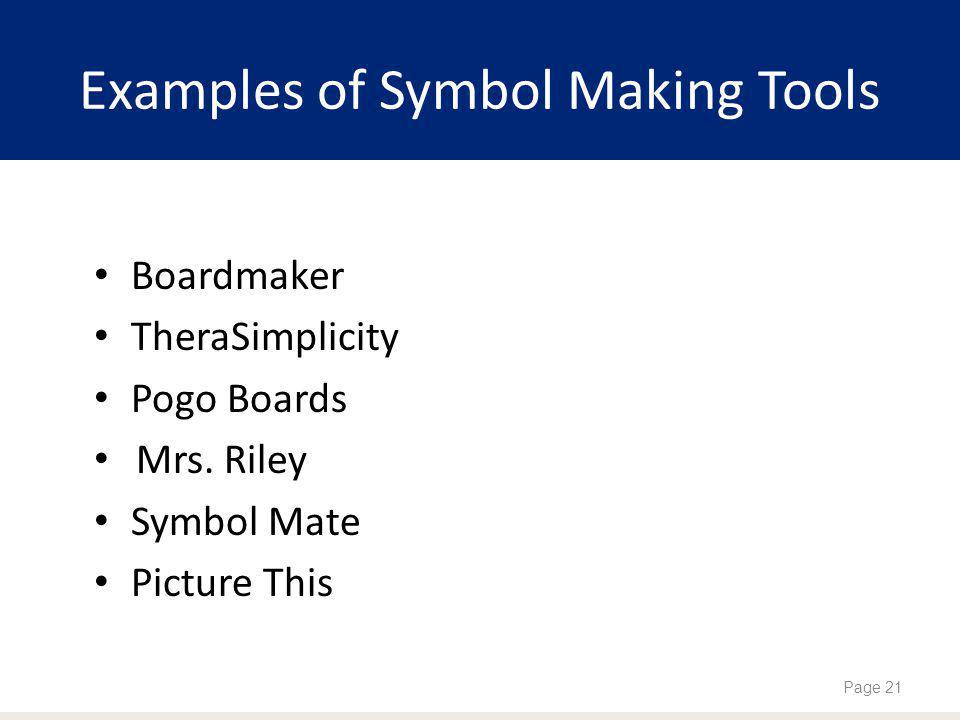 Examples of Symbol Making Tools Boardmaker TheraSimplicity Pogo Boards Mrs.