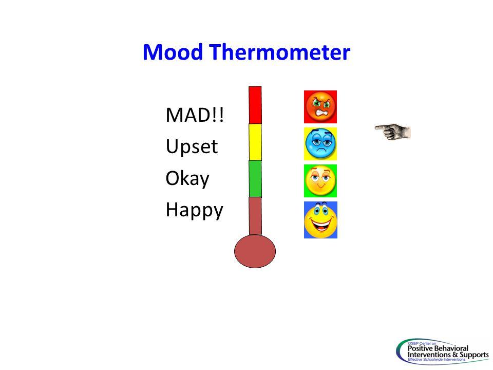 Mood Thermometer MAD!! Upset Okay Happy