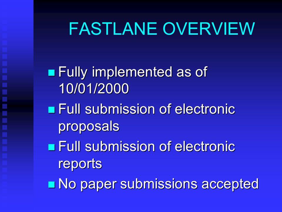 NSF FASTLANE SYSTEM By Todd C.