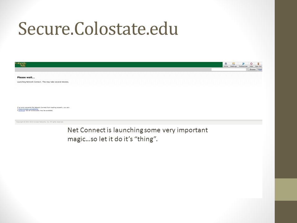 Secure.Colostate.edu You should now be in and it should look like this….