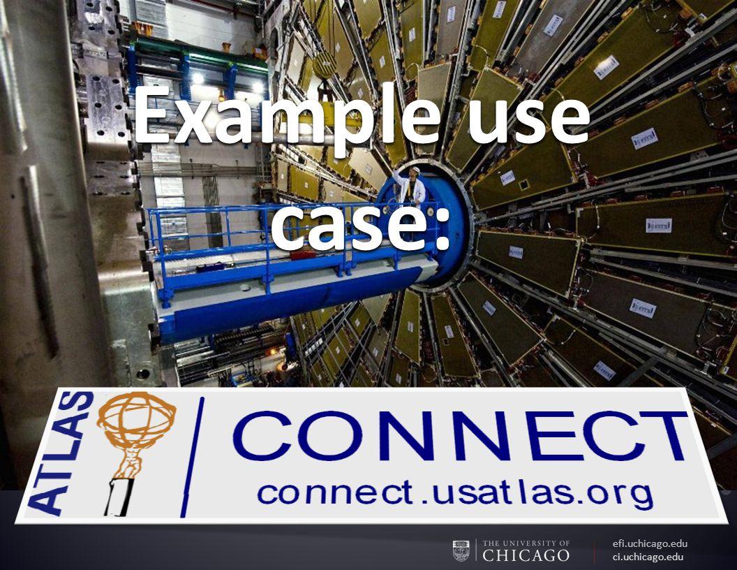 efi.uchicago.edu ci.uchicago.edu Example use case:
