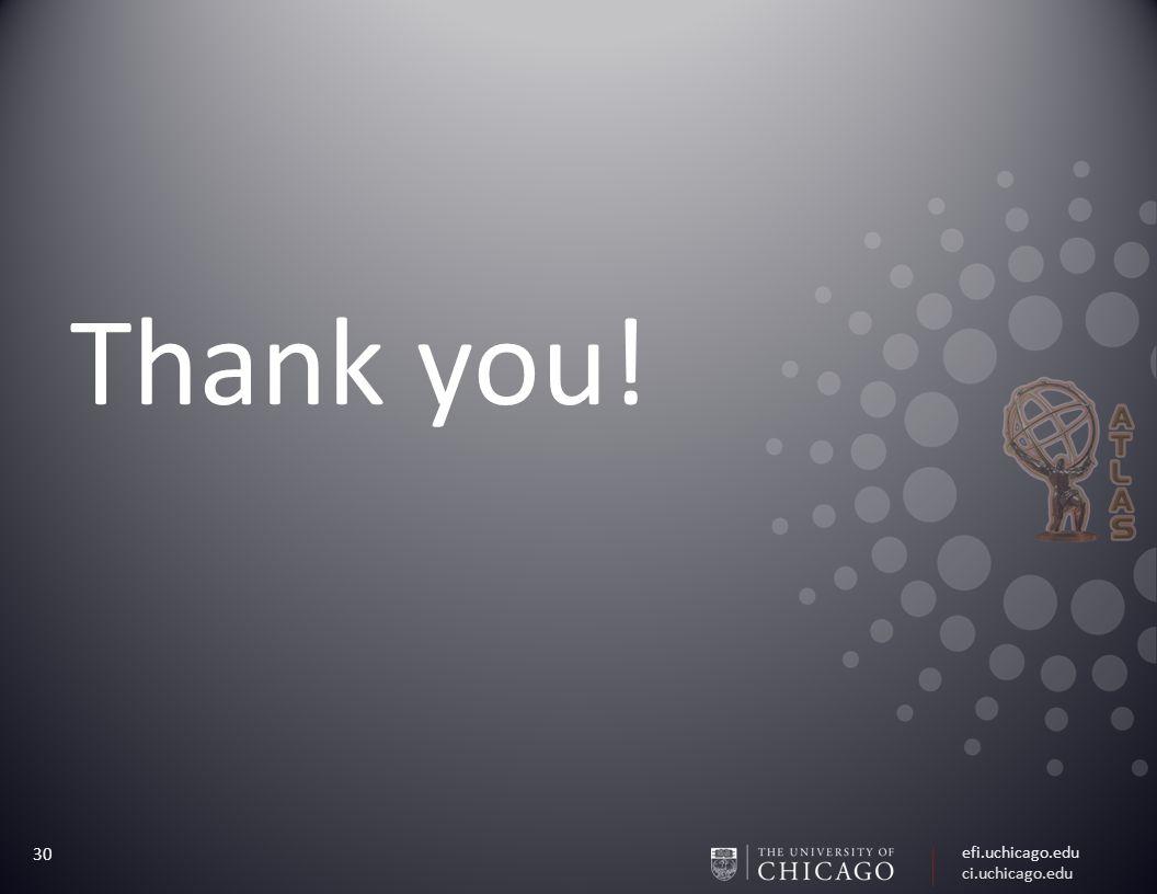 efi.uchicago.edu ci.uchicago.edu 30 Thank you!