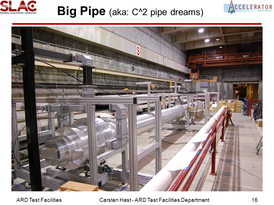 ARD Test FacilitiesCarsten Hast - ARD Test Facilities Department16 Big Pipe (aka: C^2 pipe dreams) Remember: Chris A.