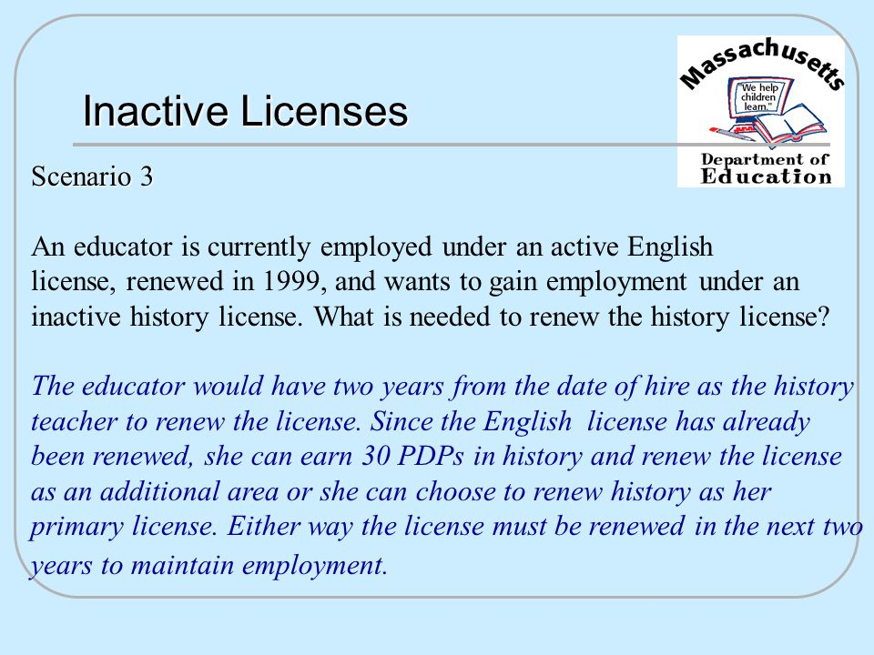 Invalid Licenses After the inactive period a license becomes invalid.