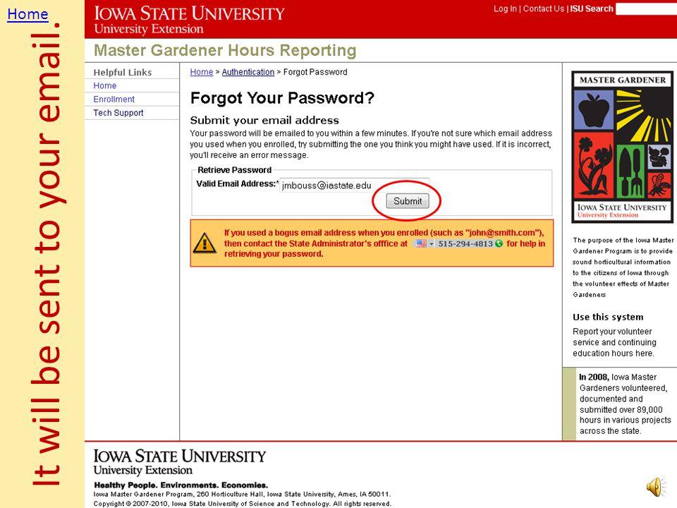 Forgotten Password? Easy. Home
