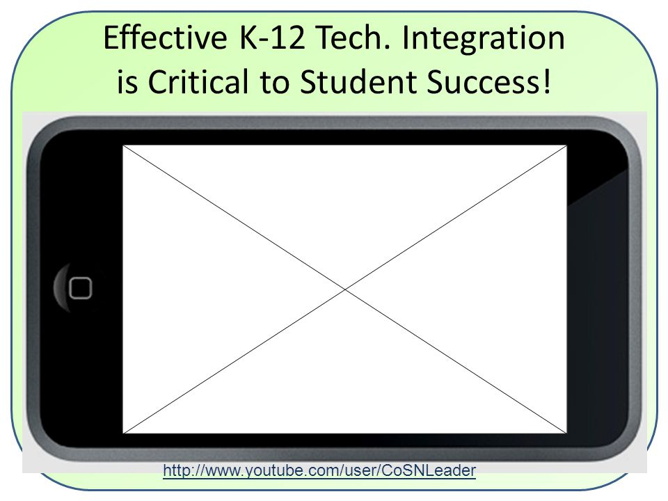 Effective K-12 Tech. Integration is Critical to Student Success.