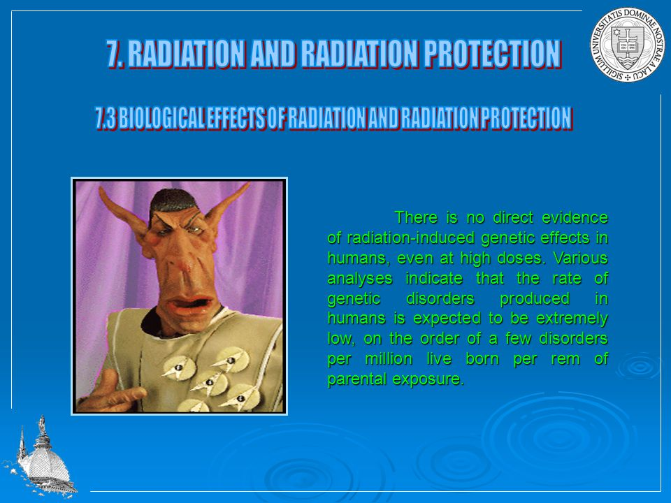 The potential biological effects and damages caused by radiation depend on the conditions of the radiation exposure.