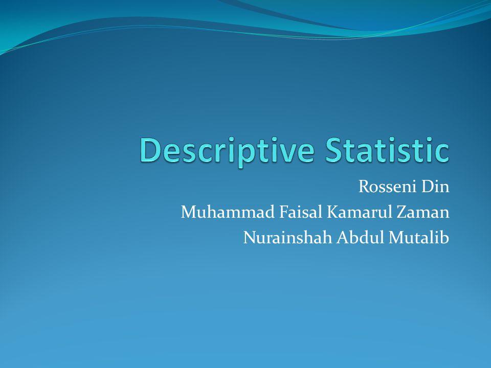 Rosseni Din Muhammad Faisal Kamarul Zaman Nurainshah Abdul Mutalib