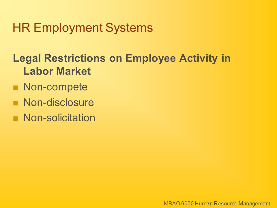 MBAO 6030 Human Resource Management HR Employment Systems Social capital Firm Specific Knowledge Seniority Privileges Re-location costs Transaction costs to Changing Jobs: Why employees need a Minimum Wage Premium to change jobs