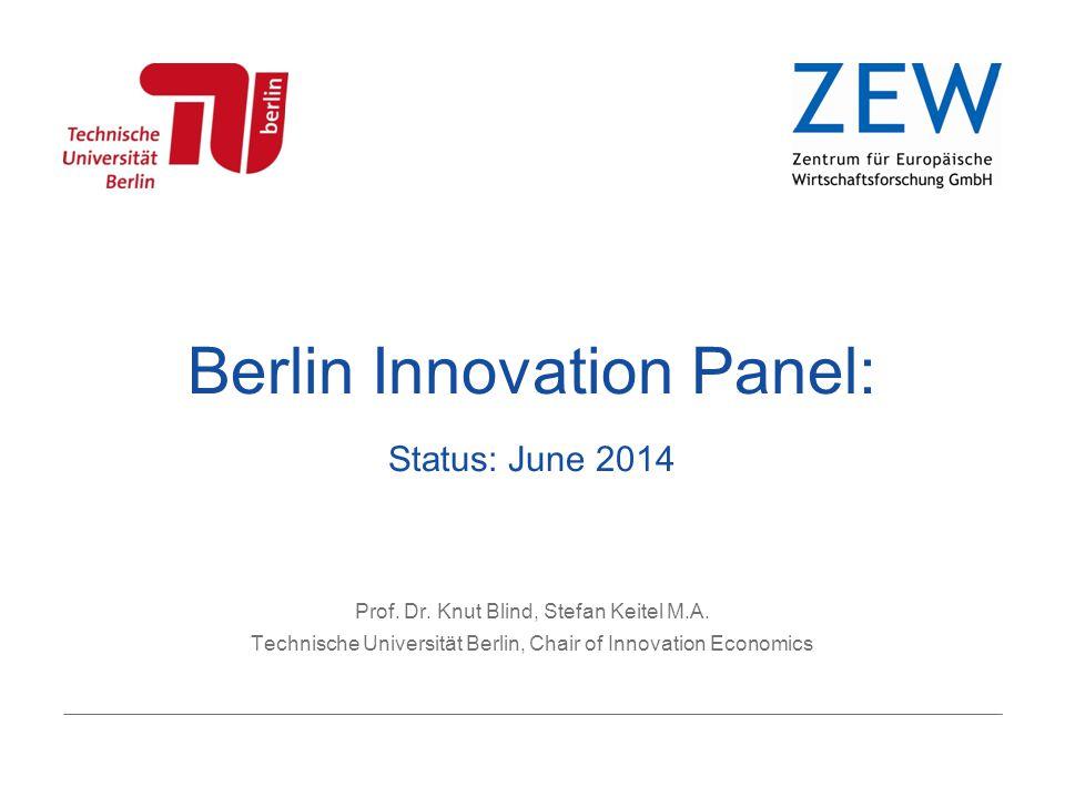 Berlin Innovation Panel: Status: June 2014 Prof. Dr.