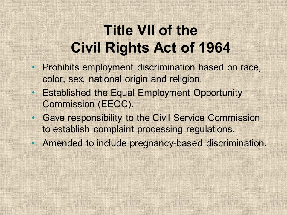 Employee's Rights and Responsibilities You can file an EEO complaint on any matter that impacts your employment.