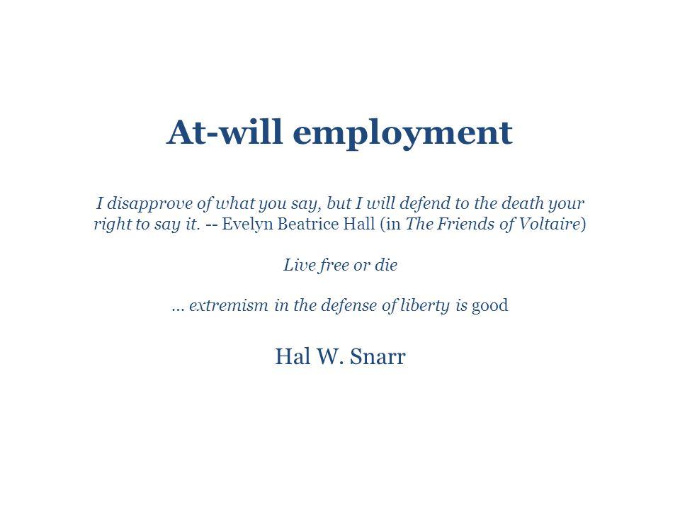 Consequences of eroding at-will employment Rent seeking shirker?Rent seeking worker.