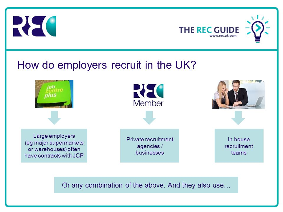 How do employers recruit in the UK.