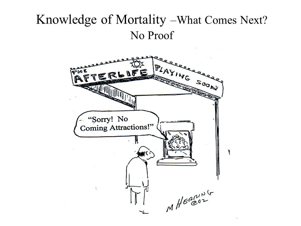 Knowledge of Mortality –What Comes Next? No Proof