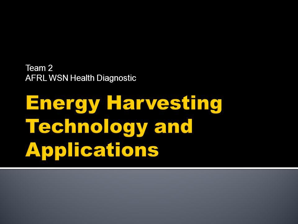 Team 2 AFRL WSN Health Diagnostic