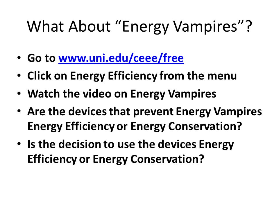 What About Energy Vampires .