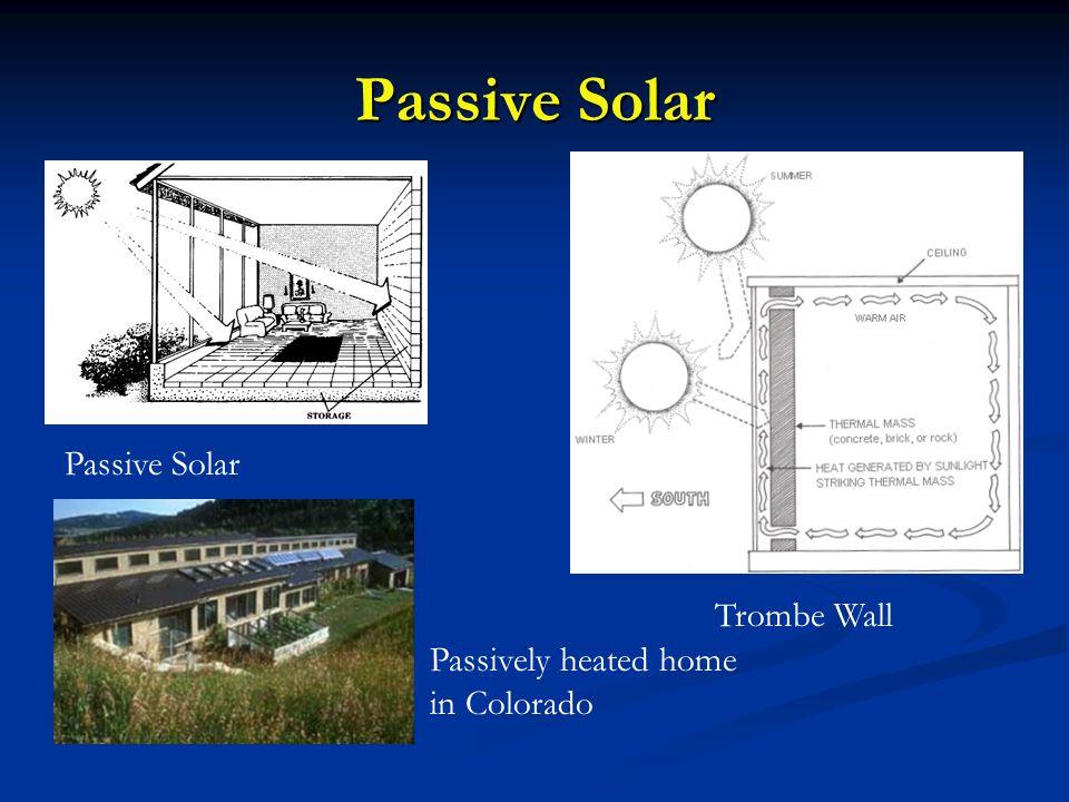 Passive Solar Trombe Wall Passively heated home in Colorado