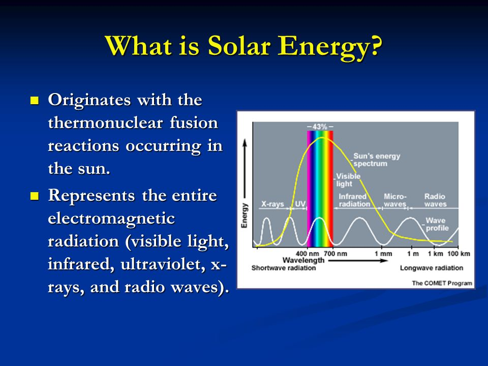 Advantages and Disadvantages Advantages Advantages All chemical and radioactive polluting byproducts of the thermonuclear reactions remain behind on the sun, while only pure radiant energy reaches the Earth.