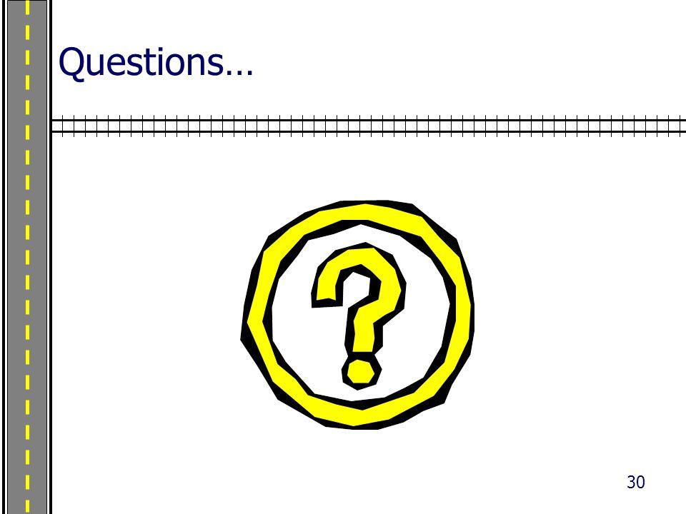 30 Questions…