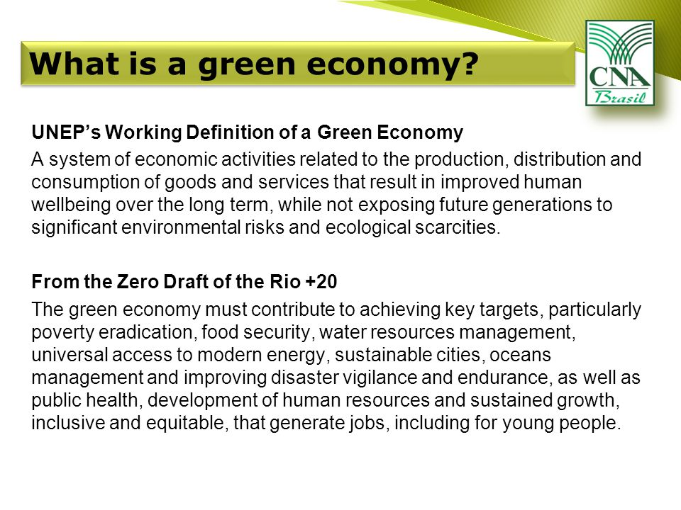 What is a green economy.