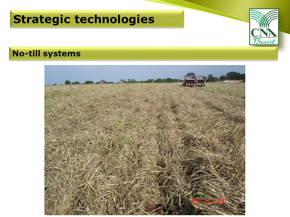 Strategic technologies No-till systems