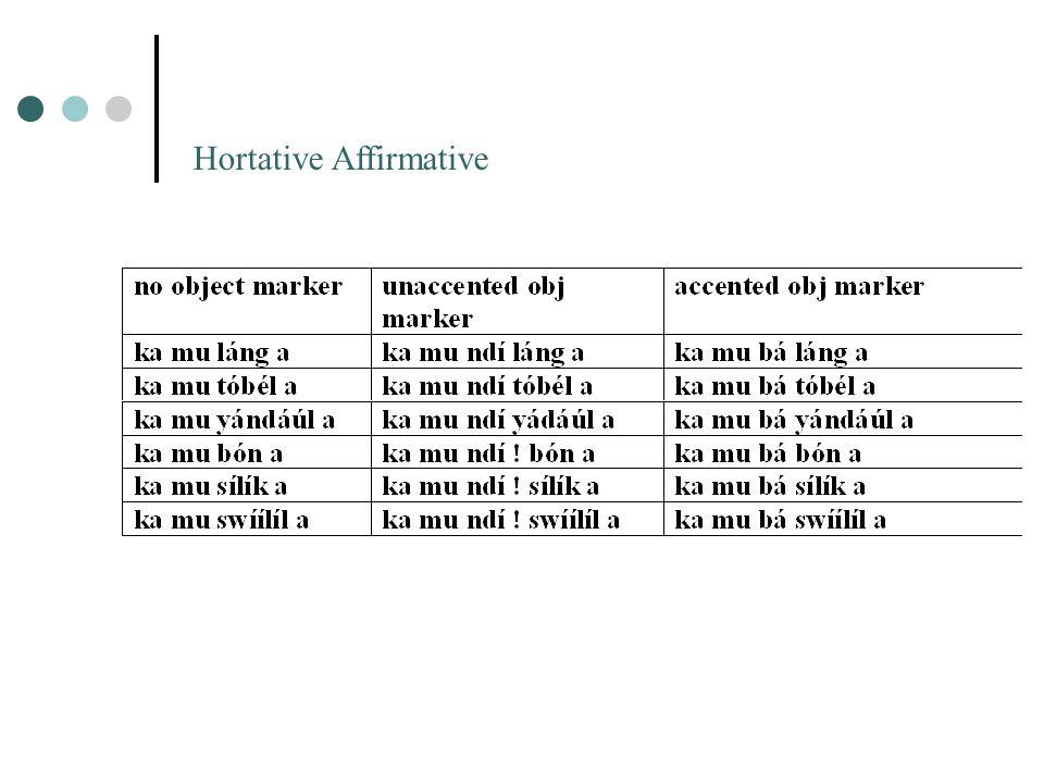 Hortative Affirmative