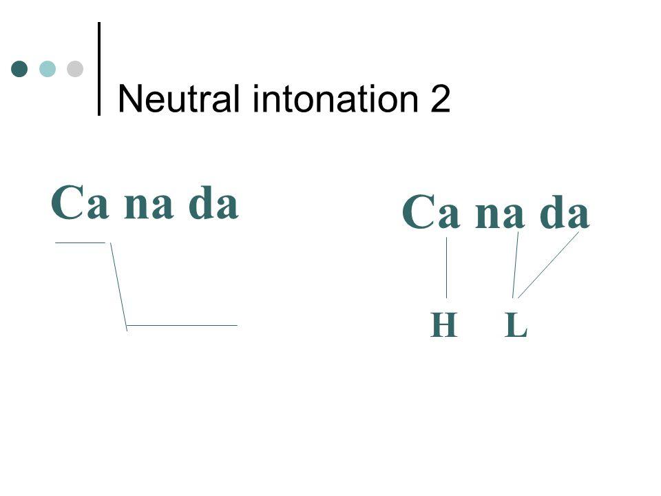 Neutral intonation 2 Ca na da H L