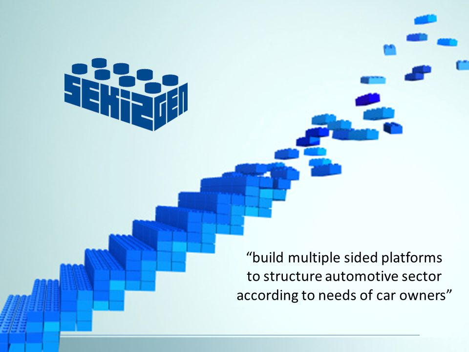 build multiple sided platforms to structure automotive sector according to needs of car owners