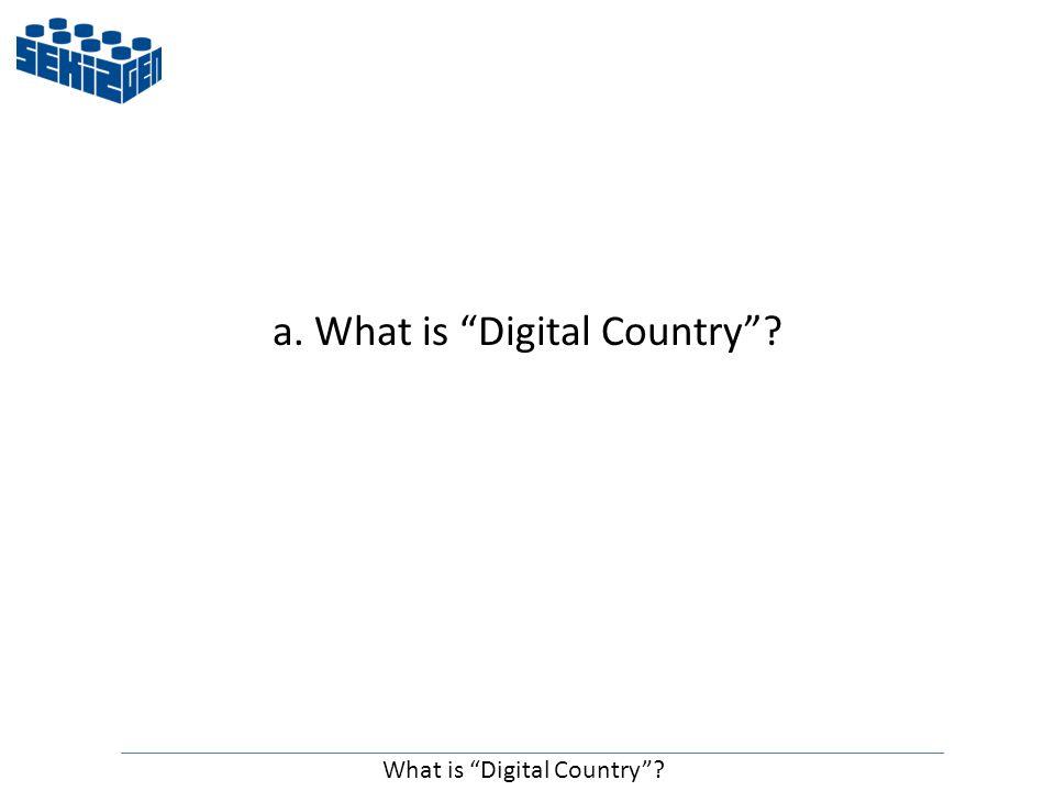 a. What is Digital Country What is Digital Country