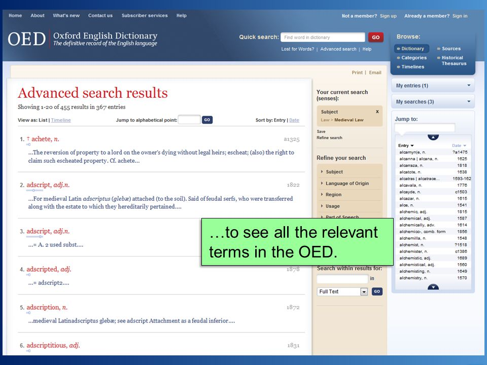 …to see all the relevant terms in the OED.