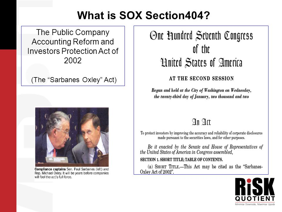 …..what is SOX s404.