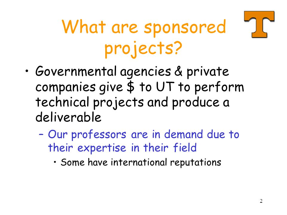 2 What are sponsored projects.