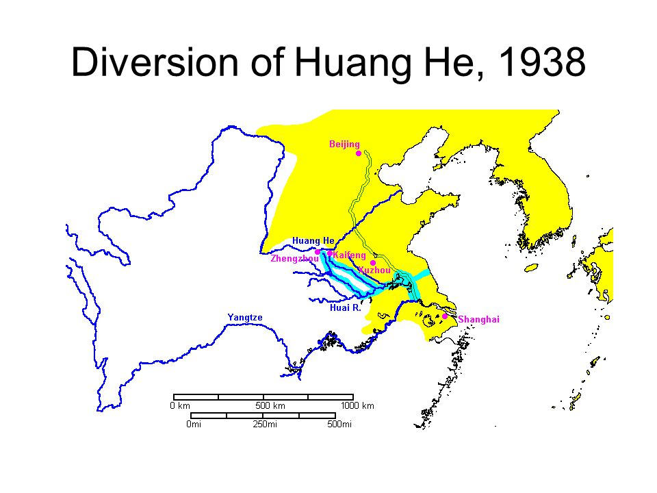 Diversion of Huang He, 1938