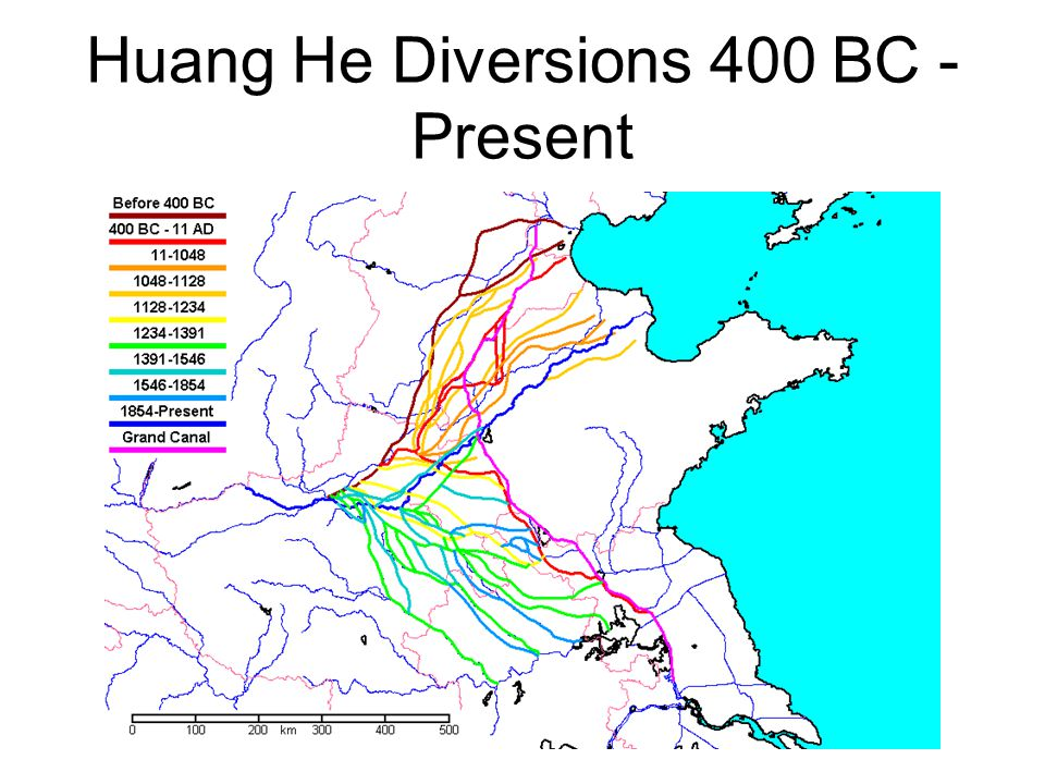 Huang He Diversions 400 BC - Present