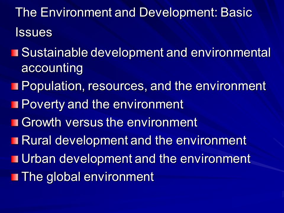 Economic Models of the Environment Traditional model advocates that so long as all resources are privately owned and there are no market distortions, resources will be efficiently allocated.