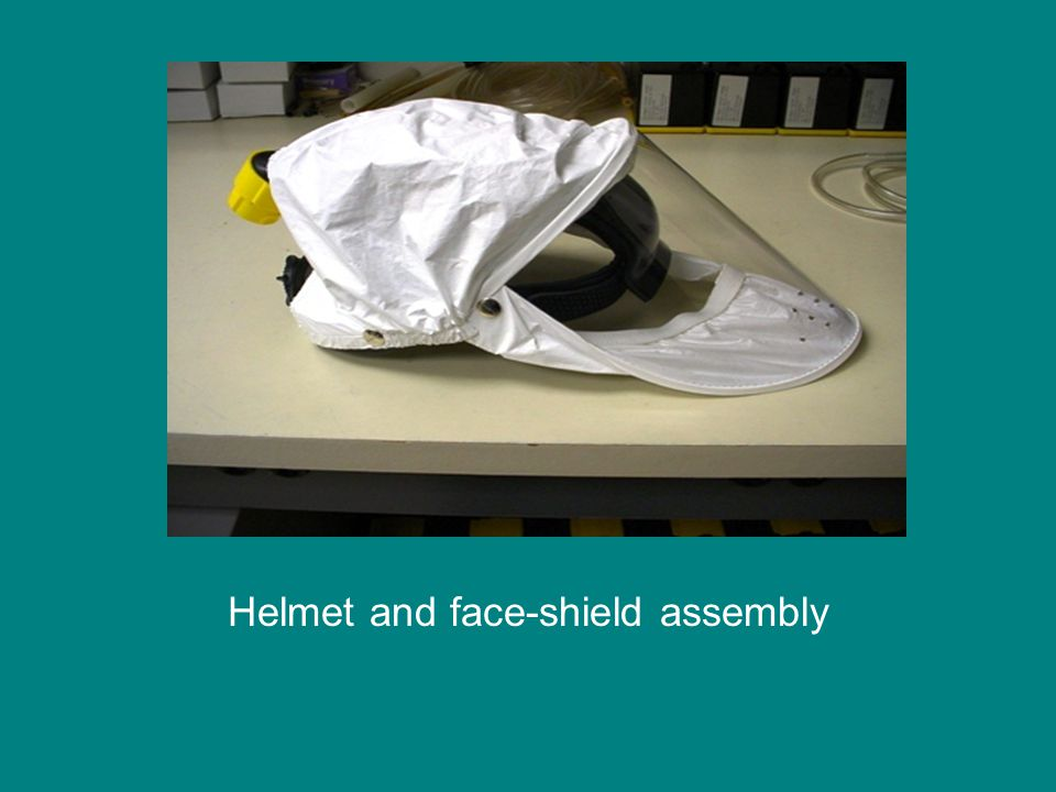 Helmet and face-shield assembly