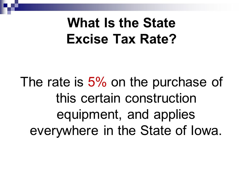 Are There Any Exemptions From the Excise Tax.Yes.