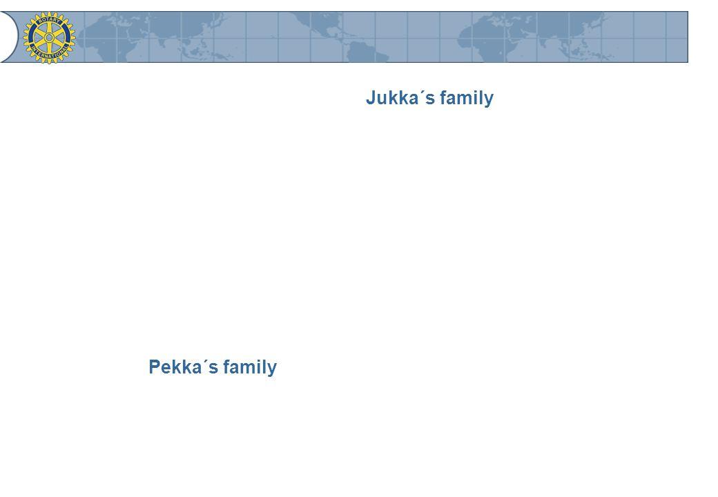 Jukka´s family Pekka´s family