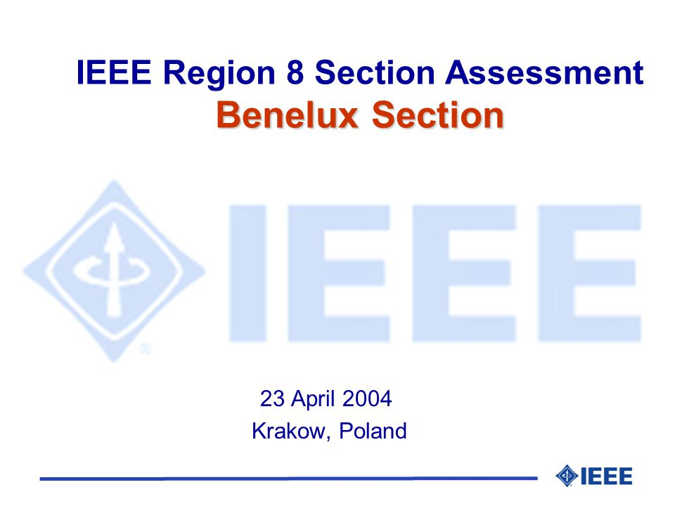 Conferences l 3rd IEEE Conference on Standardization and Innovation in Information Technology, Delft, The Netherlands, Oct.