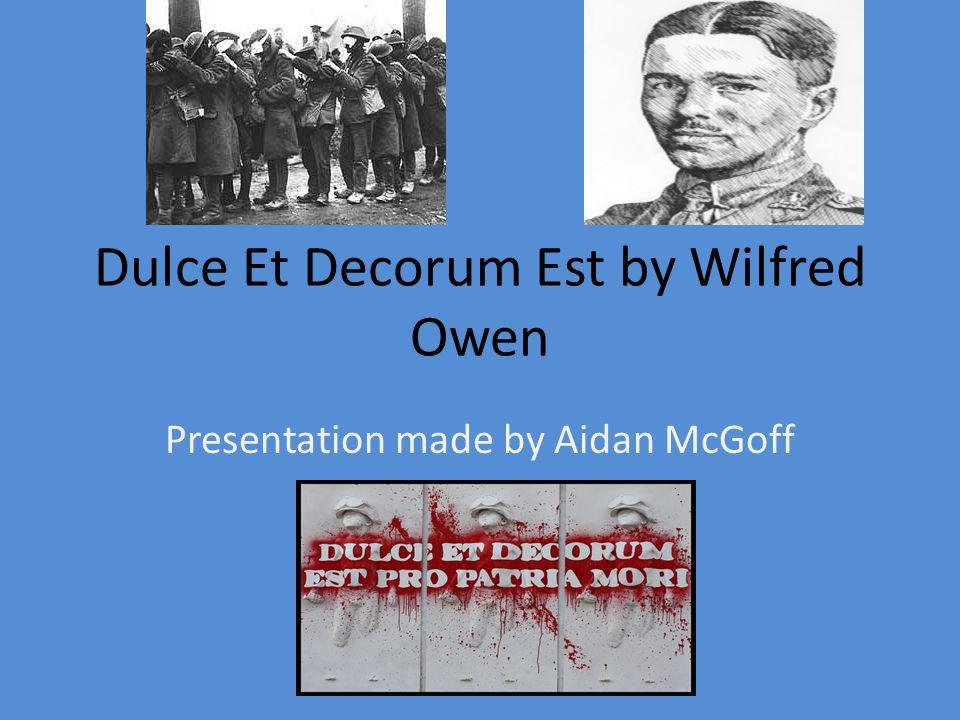 Biography of Wilfred Owen Wilfred Owen was born in 1893 in Oswestry, England.