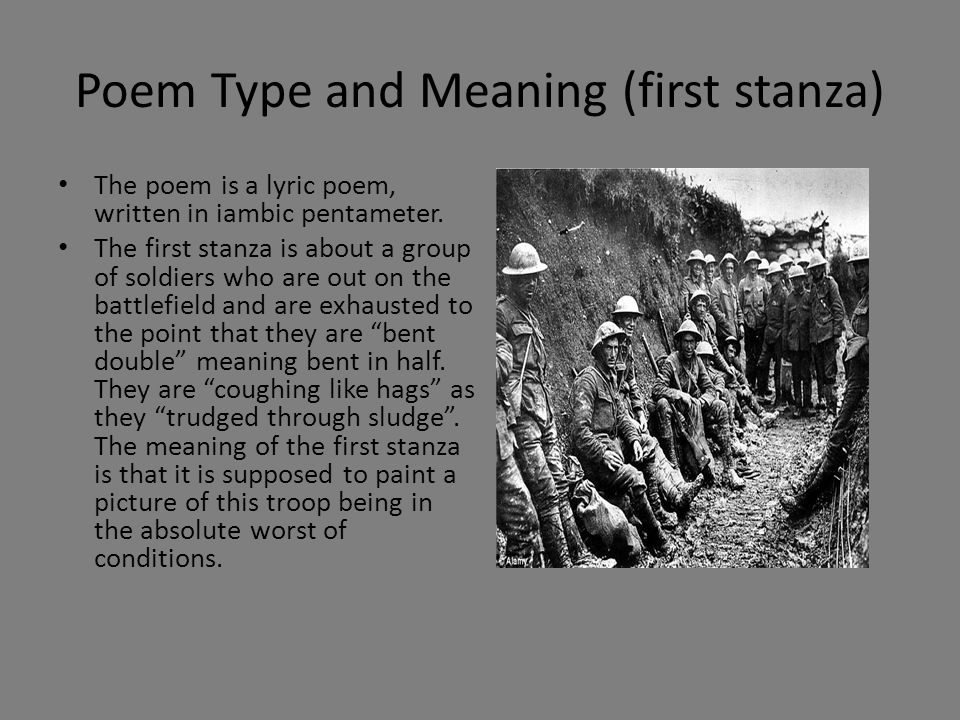 Meaning ( second stanza) Gas.Gas.